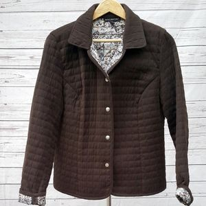 Briggs New York brown quilted snap barn jacket/14
